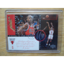 Michael Jordan Tarjeta View Points Perforada Mvp Uper Dek 97