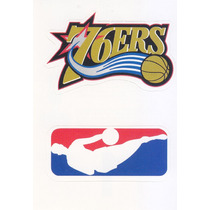 1997 Ud Choice Italian Sticker 76ers Nba Logo Teams #1 #300