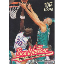 1996-97 Ultra Gold Medallion Rookie Ben Wallace Bullets