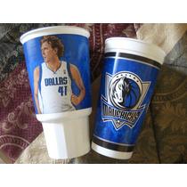 Dallas Mavericks 2 Vasos Plastico Miden 17 Cms Nuevos
