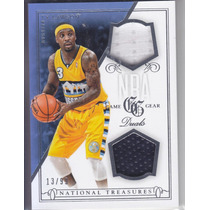 2013-14 Treasures Dual Jersey Ty Lawson Nuggets /99