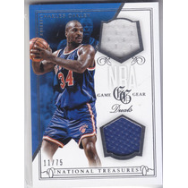 2013-14 National Treasures Dual Jersey Charles Oakley /75