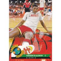 1992-93 Upper Deck Foreign Excange Hakeem Olajuwon Rockets
