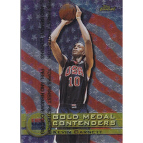1999-00 Finest Gold Medal Contenders Usa Kevin Garnett