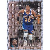 1996-97 Topps Pro Files Patrick Ewing Knicks