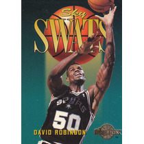 1994-95 Skybox Premium Sky Swats David Robinson Spurs