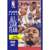 1991-92 Fleer All Stars Karl Malone Jazz