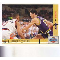 1991-92 Upper Deck Kevin Johnson Vs John Stockton Jazz