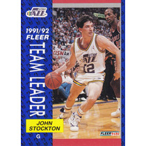 1991-92 Fleer Team Leader John Stockton Jazz