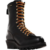 Botas Tacticas Danner Quarry 10 Black Logger Gtx