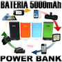Bateria Externa 5000 Mah Power Bank Cargador Rapido Ipad Htc