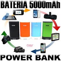 Bateria Externa 5000 Mah Power Bank Cargador Rapido Ipad Htc