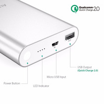 Power Bank 75% 40mins Aukey Qualcomm 2.0 Pb-t1 Quick Charge