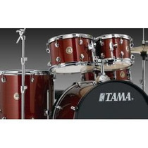 Bateria Tama Rhythm Mate 5 Pzas C/atriles Color Vino Rm52kh5