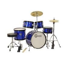 Gammon 5 Piezas Kit Júnior Arranque Drum Set Azul Metálico C