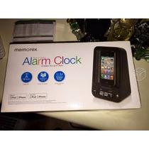 Radio Despertador Cargador Memorex Iphone 4 Y 4s