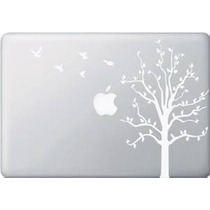 Manzano Con Pájaros - Blanco - Macbook O Laptop Decal