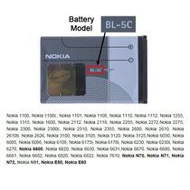 Batería Pila Bl-5c Para Nokia Nueva, Original