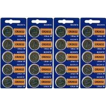 Baterías Sony Cr2032 3v De Litio (4 Ampollas De 5) 20 Célula