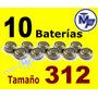 10 Baterias Aparato Auditivo Varios Tamaños 312