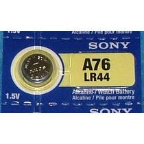 10 Pilas Lr44 O A76 O Ag13 Sony Alcalina Tipo Botón De 1.5v