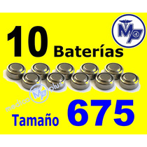 10 Baterias Aparato Auditivo Varios Tamaños 675