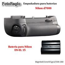 Kit Empuñadura Y Bateria En-el15 Para Nikon D7000