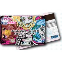 10 Invitaciones Pvc Tipo Tarjeta De Crédito,diseño Gratis