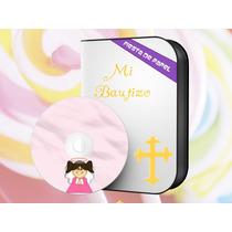 Kib-001 Kit Imprimible Editable Para Bautizo Angelita Niña
