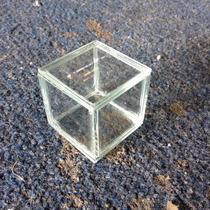 Caja De Vidrio De 3mm De 5x5 Cm Para Recuerdo O Alhajero