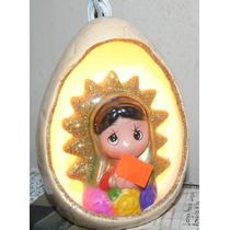 Lámparas Virgen Ceramica Resina Para Regalo O Recuerdo,