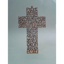 10 Cruces Padre Nuestro 25 Cms. Sin Base. Pintadas De Dorado
