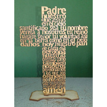 12 Cruces Padre Nuestro 25 Cms. Mdf 3 Mm. Pintadas