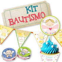 Kit Imprimible Bautismo - Fiesta - Candy Bar - Envio Gratis