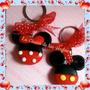 Recuerdos Llaveros Minnie Mickey Mouse Pasta Francesa