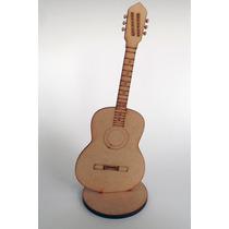 Figura Guitarra Acoustica Madera Country Recuertido