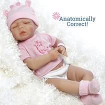 Bebes Reborn Silicone 40/45 Cm Sobrepedido 18 Pulgadas