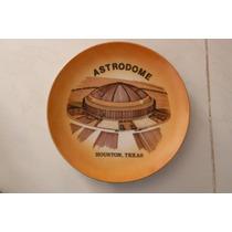 Plato Houston Texas Astrodome Retro Vintage Sports Deportes