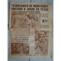 Periodico Diagonales Futbol Americano 1972