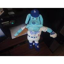 Peluche Perro Bulldog Mlb Dodgers Flexible Bend Ems