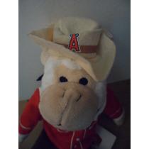 Peluche Anaheim Angels Cowboy Monkey Baseball Sport Deportes