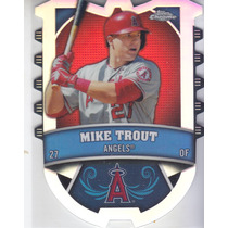 2014 Topps Chrome Connect Refractor Mike Trout Angels