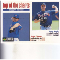 1998 Choice Top Charts Roger Clemens Denny Neagle Pitchers