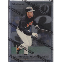1996 Leaf Preferred Steel Roberto Alomar 2b Orioles