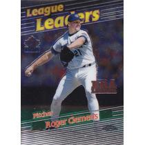 1999 Topps Chrome League Leaders Era Roger Clemens Yankees