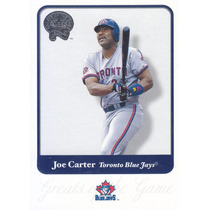2001 Greats Of The Game Joe Carter Of Blue Jays