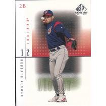 2001 Sp Game Used Edition Roberto Alomar Indians