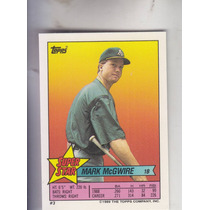 1989 Topps Sticker Ss Mark Mcgwire W 2 Back Players