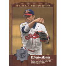 2001 Sp Game Bat Milestone Edition Roberto Alomar Indians