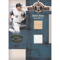 2005 Throwback Threads Bat Jersey Roberto Alomar W Sox /100